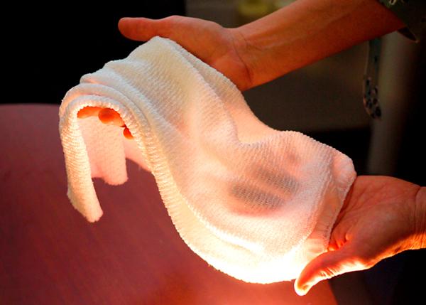 Científicos crean una tela inteligente