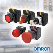 Pulsadores, Selectoras y Pilotos Ø22mm OMRON